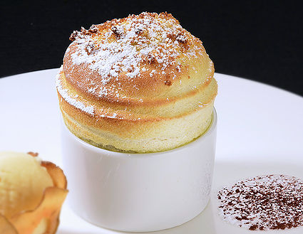 Apple Crumble Souffle