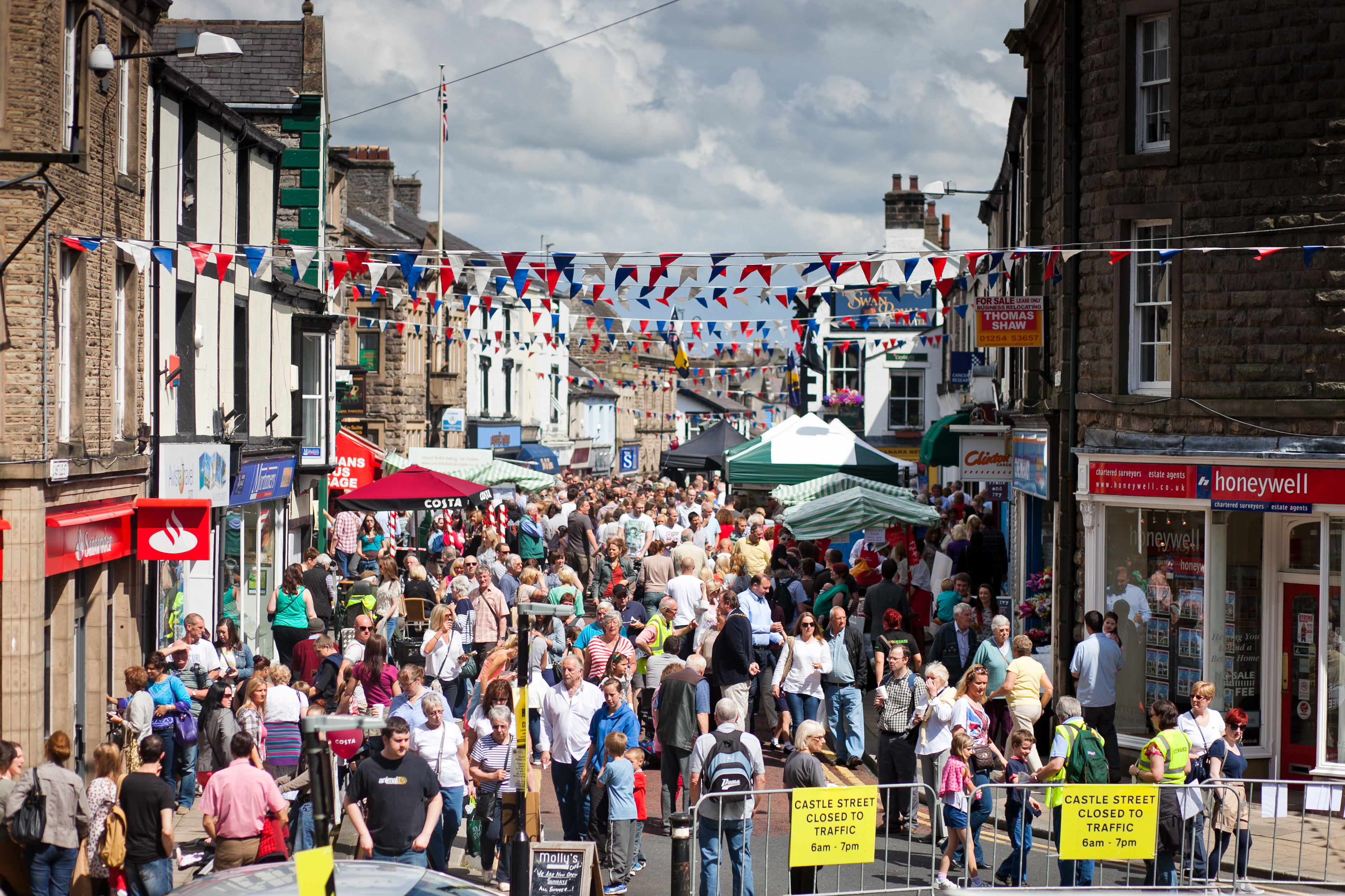 Clitheroe Food Festival - shops and stalls