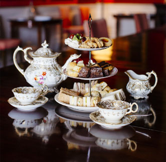 Traditional English Tea with delicious snacks