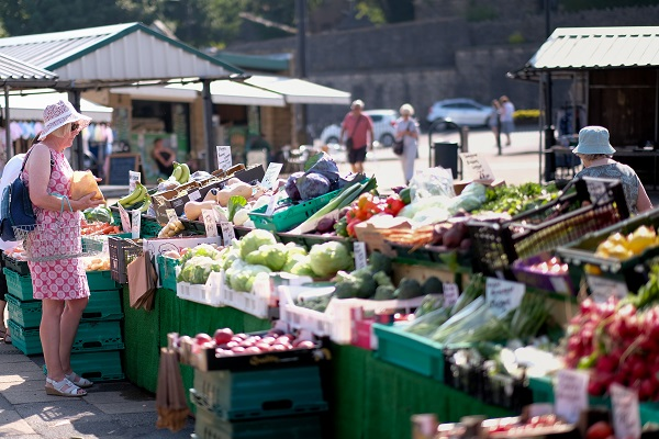 Fruit and Veg Stall at Clitheroe Market