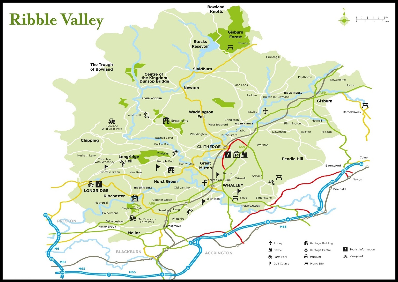 Map of Ribble Valley